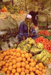 Full color fruit stall
